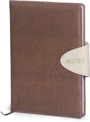 La kaarta Flap Smart Tan Notebooks Mdbt A6 Size A6 Notebook Unruled 224 Pages