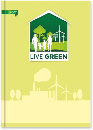 La kaarta Live Green Notebook A5 Size B5 Notebook Unruled 224 Pages