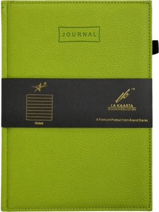 La kaarta Green Journal A5 Notebook Unruled 224 Pages