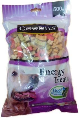goodies Goodies Best Selling Energy Treats Cut Bone All in one For Dogs By Pawsitively Pet Care - 500 GM Chicken Dog Treat