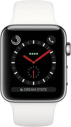 Apple Watch Series 3 GPS + Cellular - 38 mm Stainless Steel Case with Sport Band