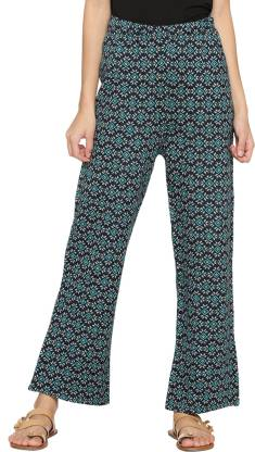 Relaxed Women Multicolor Polycotton Trousers