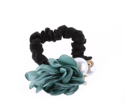 Bolt Hair609 green flower rubber band for girls and party Rubber Band
