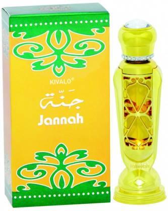 KIVALO Ⓡ Haramain Pure Original Jannah Fragrance Perfume Oil (Attar) with Agarwood, Musk - 12 ml Floral Attar