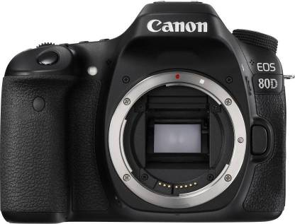 Canon EOS 80D DSLR Camera  Body Only   16  GB SD Card    Black  Canon DSLR   Mirrorless