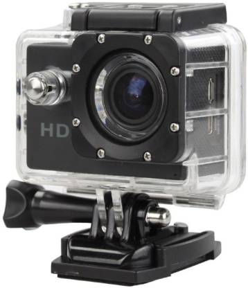 ALONZO SPORT ACTION CAMERA with Built-in detachable li-battery, easy to exchange, Support high capacity Micro S D/ T F card Up to 32 G B, Compatible with Android, I O S, Tablet- Black Sports and Action Camera