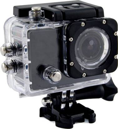 ALONZO SPORT ACTION CAMERA with 12 Mega Pixel ||1080P FULL H D resolution ||1.5 inch high resolution L C D screen ||Detachable & Rechargeable li-battery for Android, I O S, Smartphone - Black Sports and Action Camera