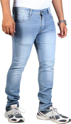 Lzard Slim Men Light Blue Jeans