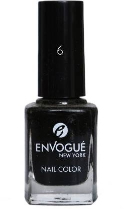 ENVOGUE Nail Polish Black 9.5 ML Black