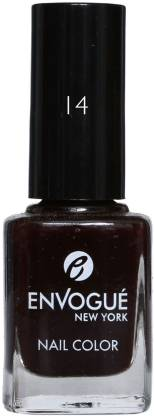 ENVOGUE Nail Polish Black Shadow 9.5ml Black Shadow