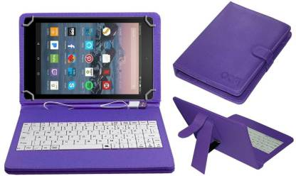 """ACM Keyboard Case for Amazon Fire Tablet 7""""(Purple, Cases with Holder)"""
