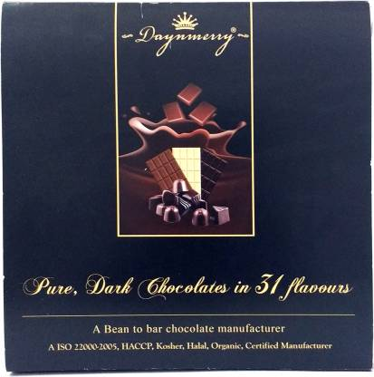 """Daynmerry """"Daynmerry"""" Assorted Chocolate box - 20 gms chocolate- Pack of 16 Truffles"""