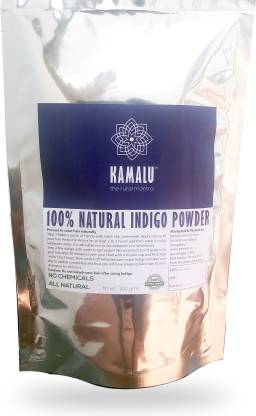 Kamalu - the rural mantra 100% NATURAL INDIGO POWDER - BLACK COLOR FOR HAIR - 100gms , BLACK