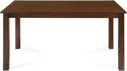 @home by Nilkamal Alice Solid Wood 6 Seater Dining Table