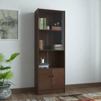 HomeTown Lara Crony Engineered Wood Semi Open Book Shelf Finish Color   Wenge