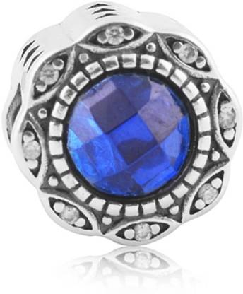 Linkingcharms 92.5 Sterling Silver Charms For Women, Girls - Sky Blue Radiance Silver Beaded Charm