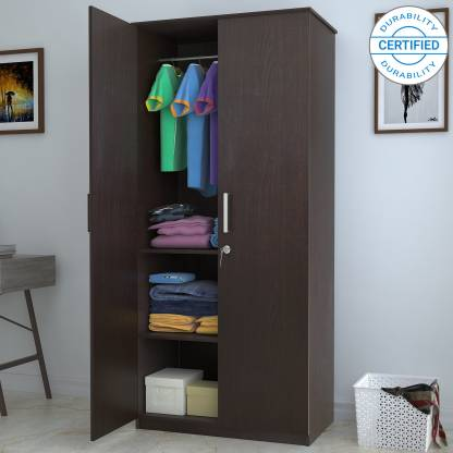 Best Wardrobe brands In India: Flipkart Perfect Homes Julian Engineered Wood 2 Door Wardrobe