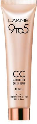 Lakme 9 to 5 Complexion Care Face Cream - Bronze Foundation  (Bronze, 30 g) thumbnail