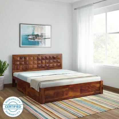 Induscraft Antilia Sheesham Solid Wood King Drawer Bed
