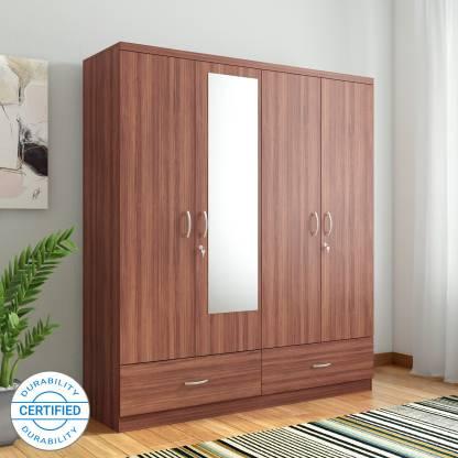 Hometown Ultima 4 Door With Mirror Rwlnt Engineered Wood 4 Door Almirah