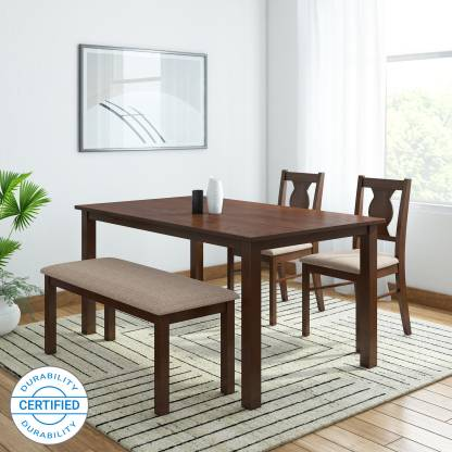HomeTown Artois Solid Wood 4 Seater Dining Set