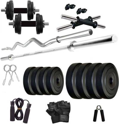 Star X 20 kg PVC plates dumbbell set Home Gym Combo Weight of Plates = 20 kg