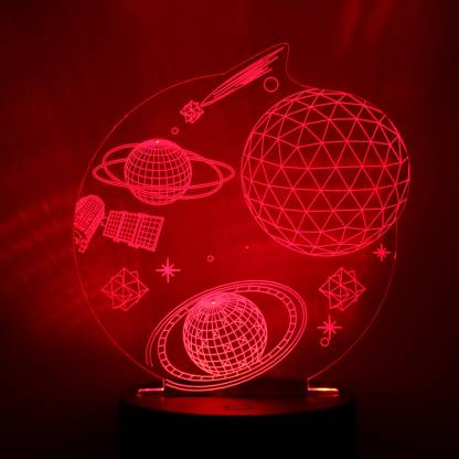 Skycandle In 3d Optical Illusion Night Light 7 Led Color Changing Lamp Cool Soft Light Safe For Kids Solution For Nightmares Brahmand Night Lamp Price In India Buy Skycandle In 3d Optical Illusion