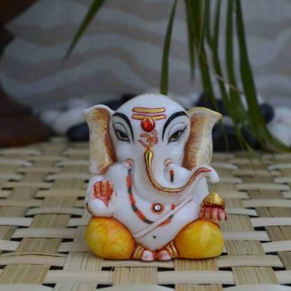 eCraftIndia Pleasing Lord Ganpati Statue Decorative Showpiece  -  6.35 cm