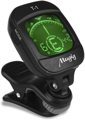 QUINERGYS ® Tuner Clip-on Tuner for Guitar, Ukulele, Bass, Violin, Chromatic Tuning,Large Clear Colorful LCD Display (38% Greater View),Calibrated Pitch,Battery Included, Auto Power Off Automatic Digital Tuner
