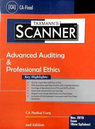 Taxmann's scanner Advanced Auditin & Professional Ethics CA Final Nov. 2018 New Syllabus