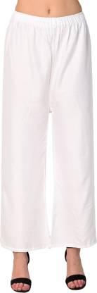 VTV Flared Women White Trousers