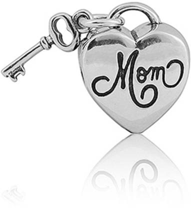 Linkingcharms 92.5 Sterling Silver Charms For Women, Girls - Key to Mothers Heart Silver Beaded Charm