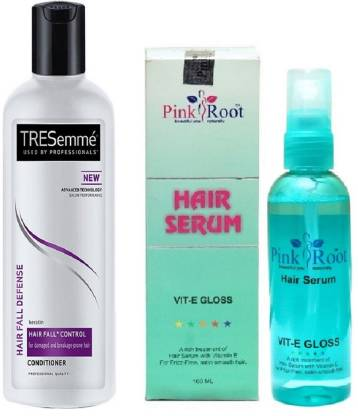 PINKROOT Hair Serum (100ml) and TRESemme Hair Fall Defense Conditioner