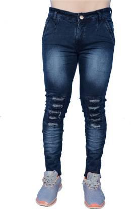Denim Slim Fit Ripped Jeans