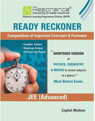 Resonance: Ready reckoner JEE 2019(Main Advanced)- Limited edition [PDF]