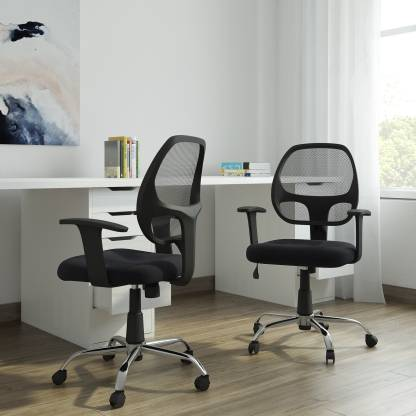 DZYN FURNITURES Linen Office Executive Chair