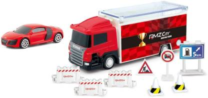 RMZ Scania Truck Launcher Red With BMW M5 - Blue (Blue)