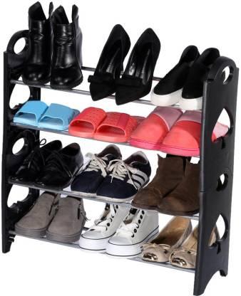 CMerchants OPEN Cabinet-4Layer Plastic Collapsible Shoe Stand