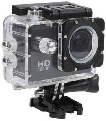 ALONZO Sport Action Camera Ultra H D 1080P with Rechargeable Battery, Support up to 32GB S D Card compatible with Android, I O S, Smartphone (Black) Sports and Action Camera