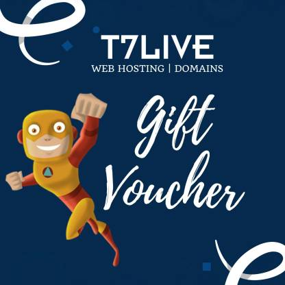 T7Live Web Hosting | Digital Voucher | Gift Card
