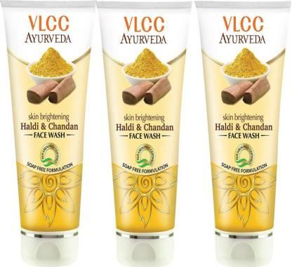 VLCC Ayurveda Skin Brightening Haldi & Chandan face wash 100ml (pack of 3) Face Wash