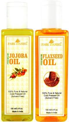 PARK DANIEL Premium Flaxseed oil and Jojoba oil combo of 2 bottles of 100 ml (200ml) Hair Oil