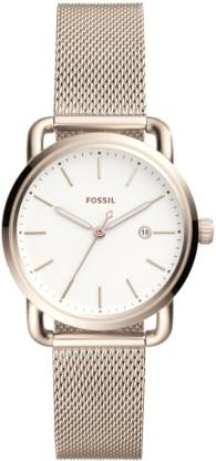 Fossil ES4349 THE COMMUTER 3 HAND/DATE Analog Watch - For Women