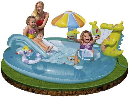 INTEX Shark Gator Inflatable Play Center Inflatable Swimming Pool