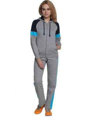 Wake Up Competition Solid Women Track Suit