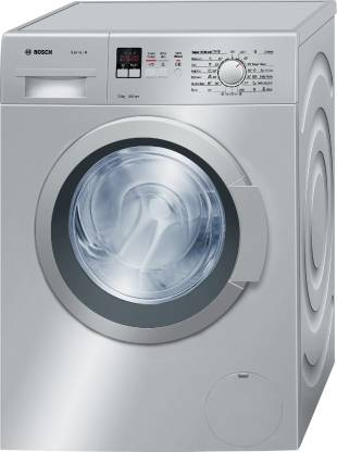 Bosch 7 kg Fully Automatic Front Load Washing Machine with In built Heater Silver WAK24168IN  Bosch Washing Machines