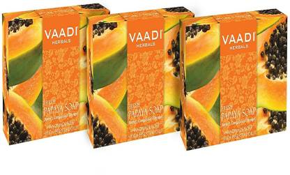 VAADI HERBALS Value Pack of 3 Fresh Papaya Soap (75 gms X 3)