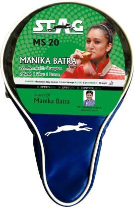 STAG MANIKA BATRA MS-20 Red, Black Table Tennis Racquet