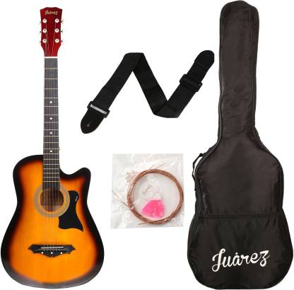 """Juarez JRZ38/3TS Acoustic 38"""" Acoustic Guitar Linden Wood Ebony Right Hand Orientation"""