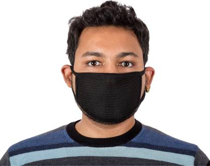 Autofy Black Net Print Anti Pollution and Anti Dust Disposable Particulate Surgical Mask